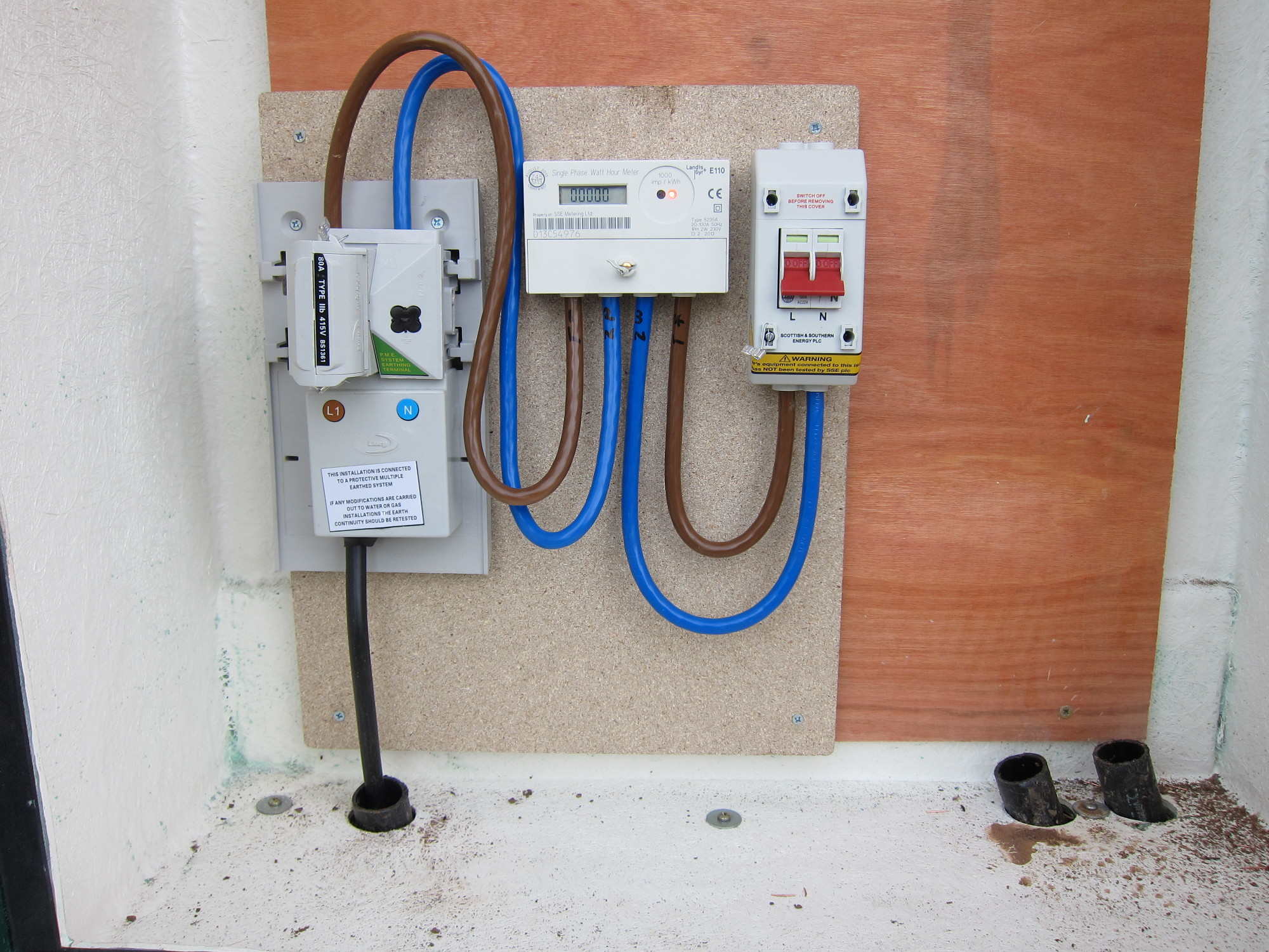 Install Utility Meters : Electricity supply re installation marsh flatts farm