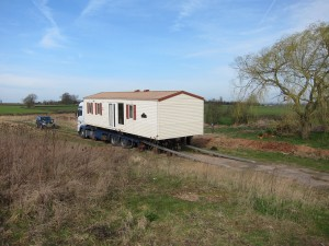Willerby Villa static caravan delivery ready for unloading