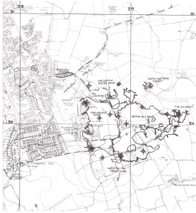 Chellaston Mines Map from NERC Report