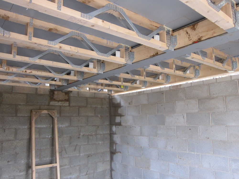 Second floor structure under home office