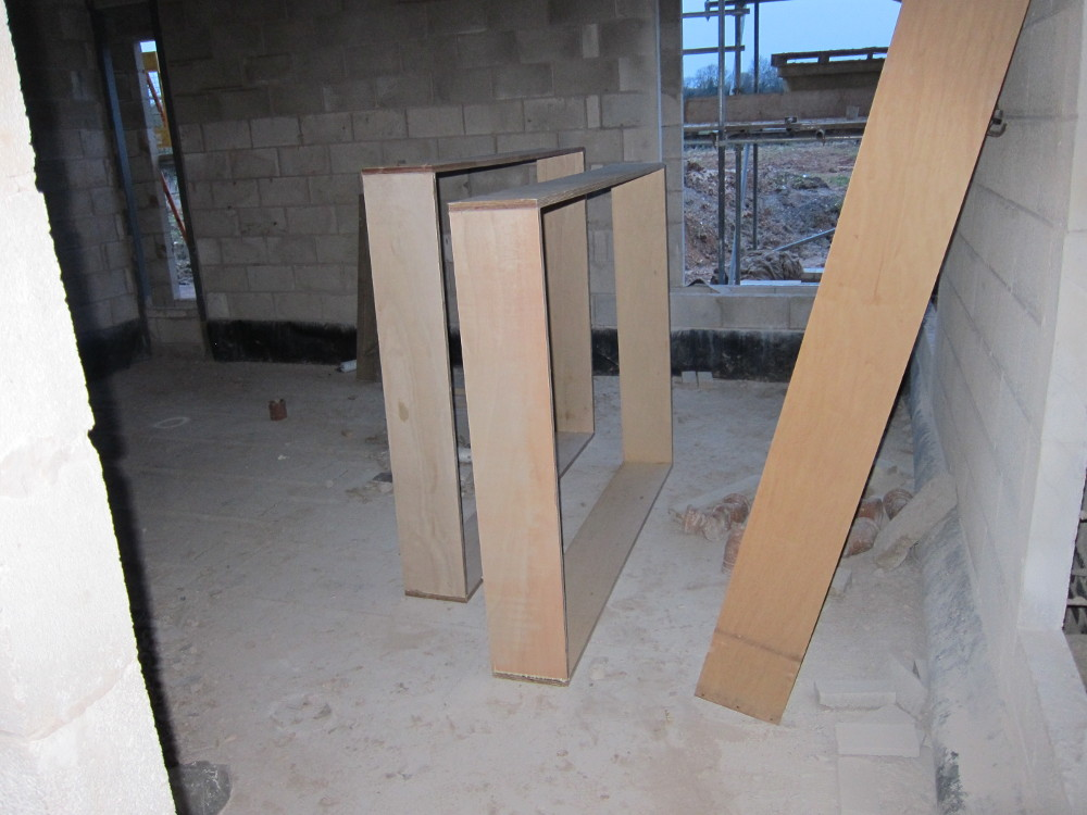 Plywood boxes for windows
