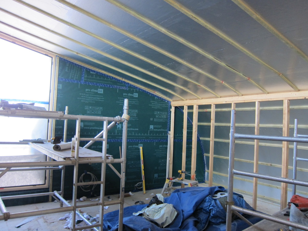 Office with vapour and air tight membranes