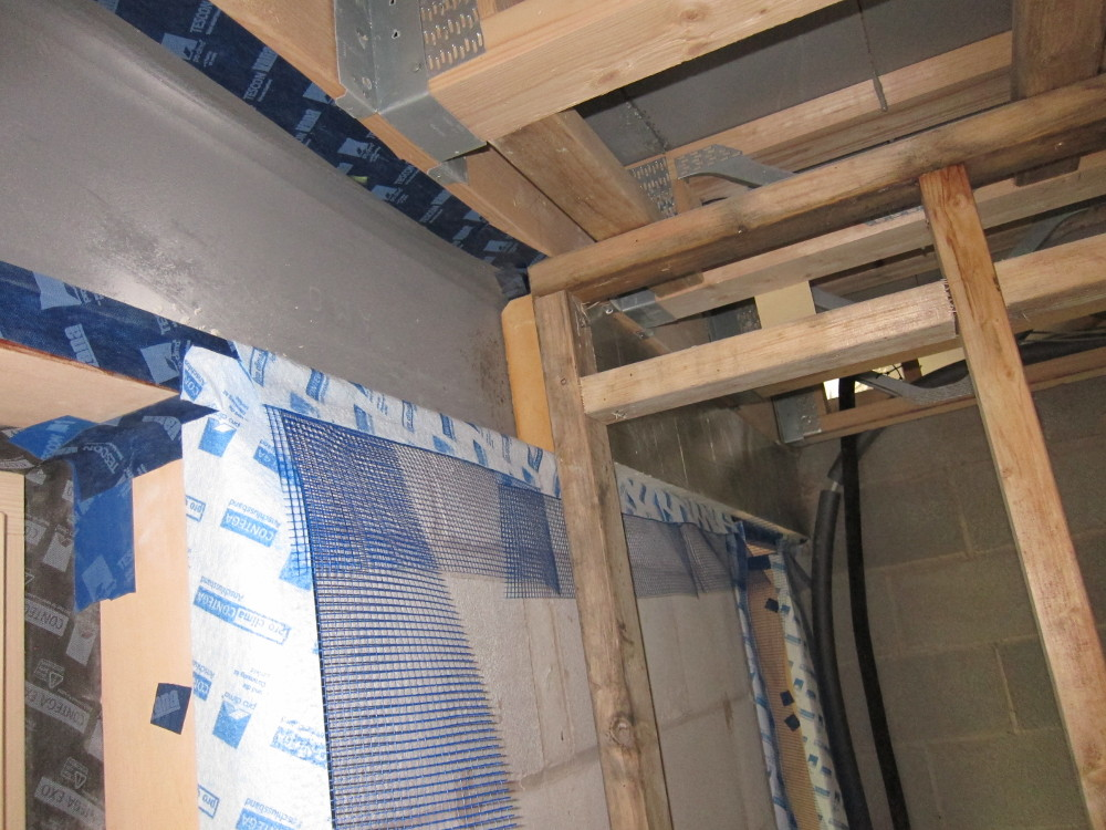 Insulating the steel beam in the second bedroom
