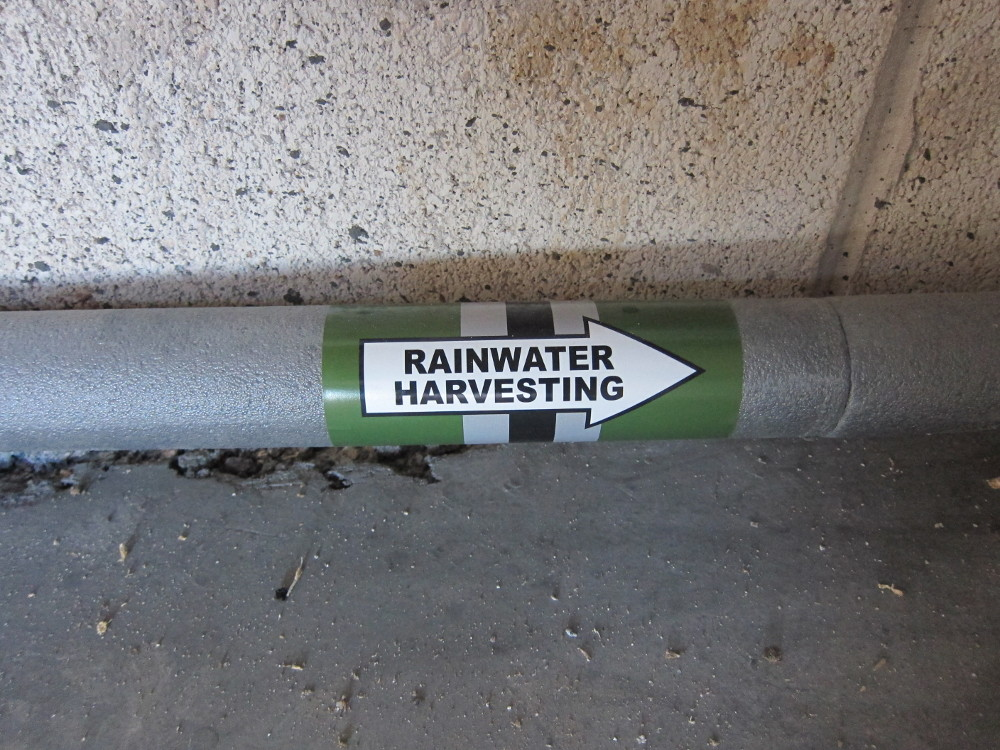 Rainwater pipe labels
