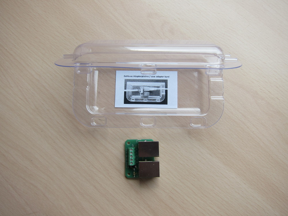 Adaptor board and supplied mounting box
