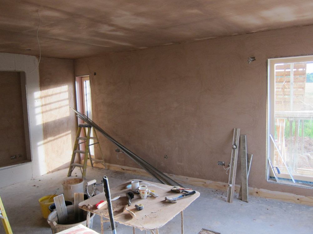 Plastering in the Living Room
