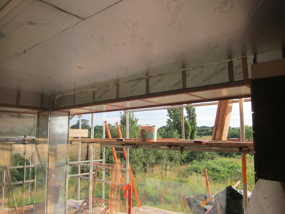 Insulation over balcony