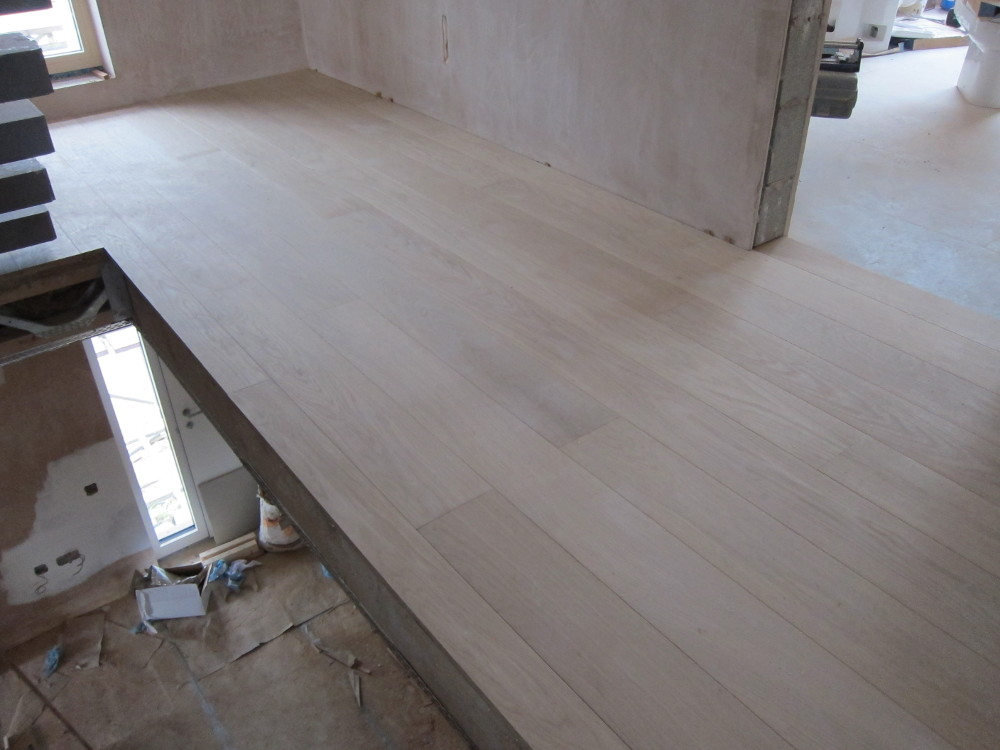 Engineered oak flooring on the first floor landing