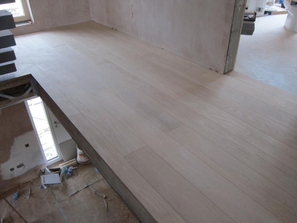 Engineered oak flooring on the first floor landing