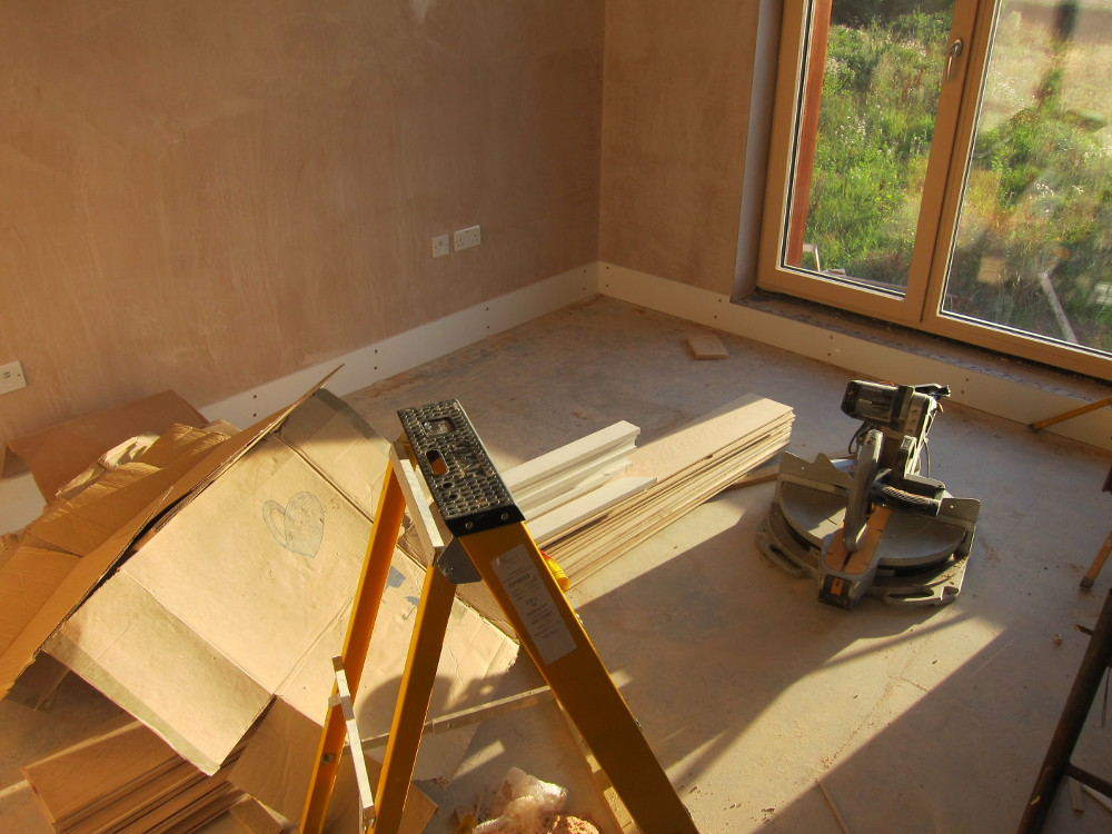Skirting boards in Bedroom 4