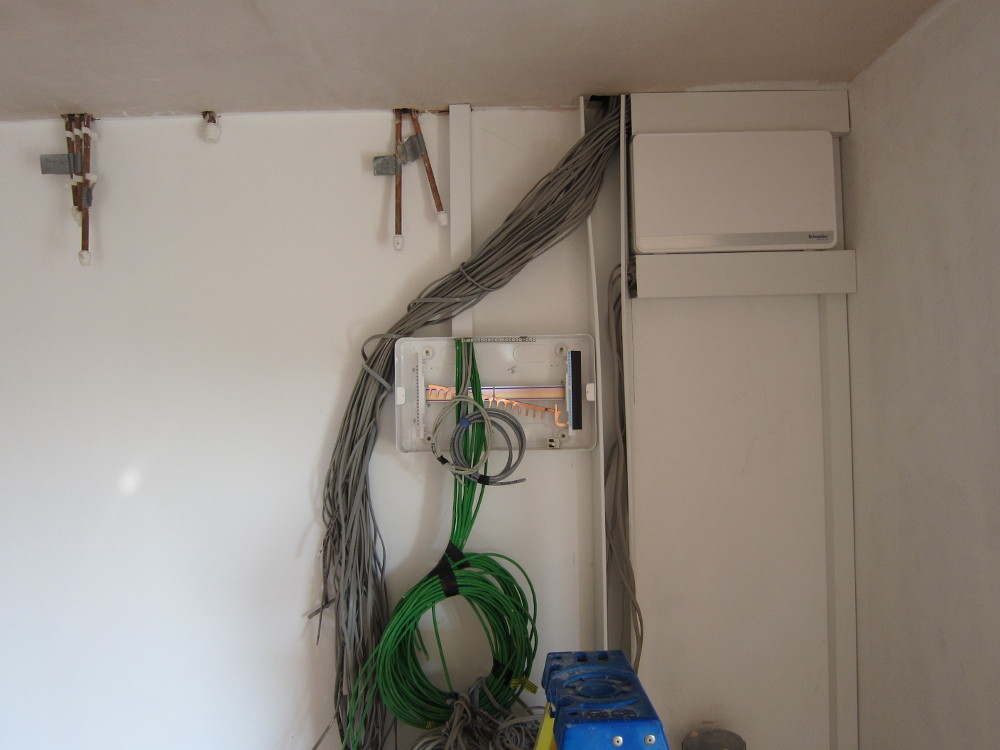 Day 1 of installing the electrical boards on the First Floor