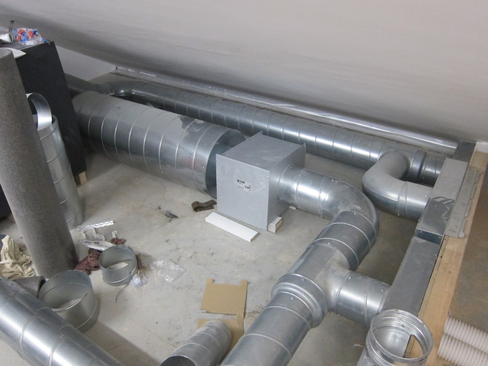 Duct heater installed in Plant Room