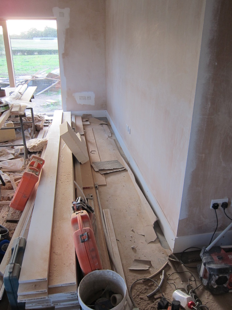 Skirting Boards in the Open Plan area