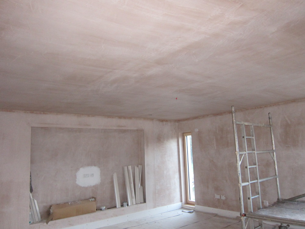 Living Room ceiling re-plastered