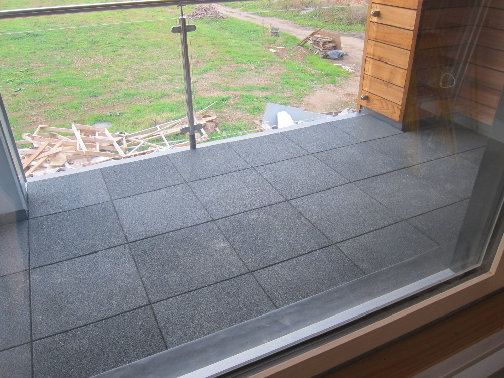 Eurodec Premier Rubber Tiles on balcony floor