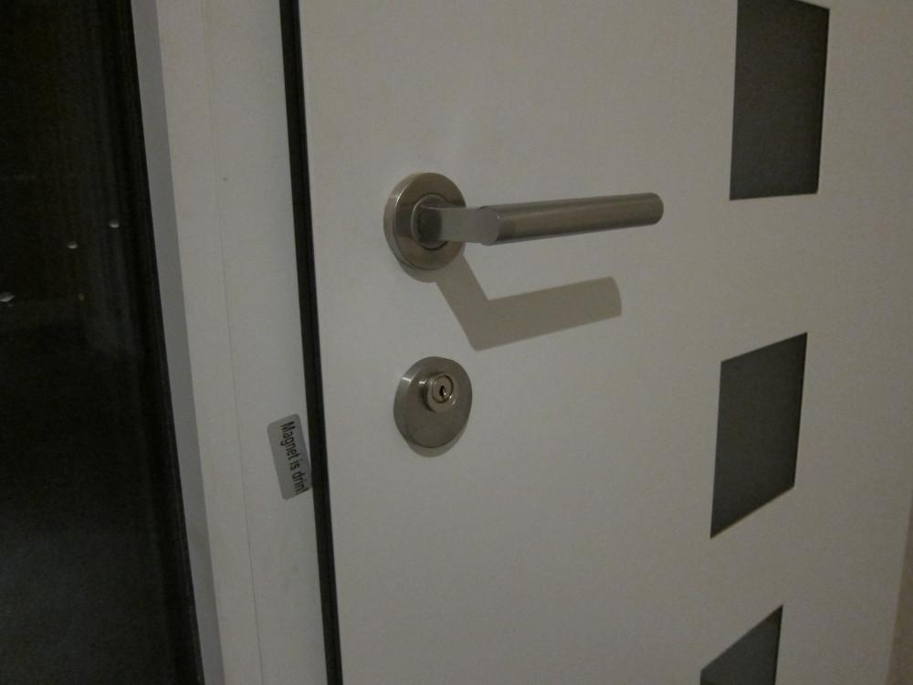 """""""Swiss Round"""" door lock cylinder in front door"""