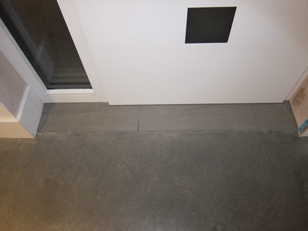 Porcelain floor tiles by Front Door